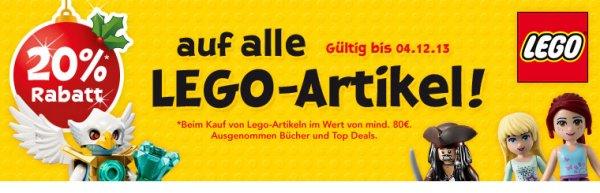 20% auf LEGO bei Toys'R'Us bis 4.12. MBW 80€ online und offline