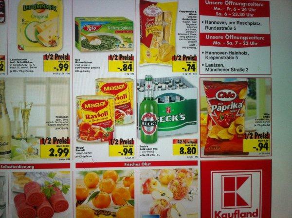 [Kaufland, regional Hannover] Becks 20x0,5l und andere Angebote