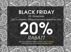 Black Friday @ ZARA Home 20% Rabatt