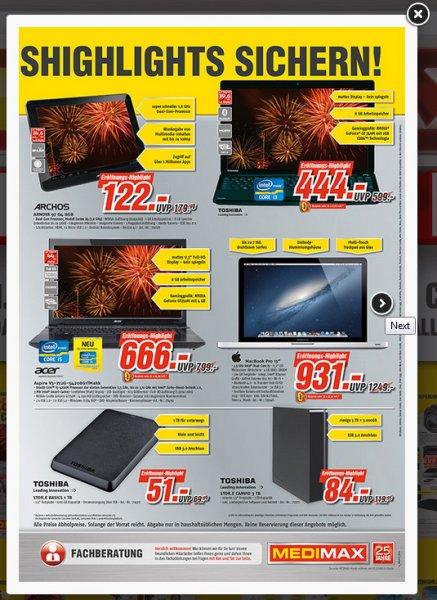 Lokal (Cottbus): Festplatte Toshiba Stor.e Basics 2,5 Zoll 1TB = 51,00 Euro
