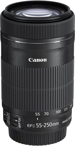 Canon Tele-Zoomobjektiv EF-S 55-250mm 1:4-5,6 IS STM für 249,95€ @ Cyber Monday