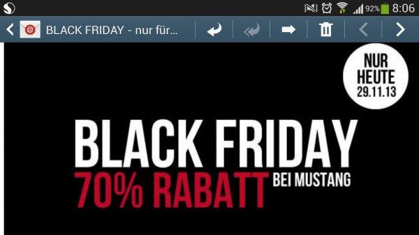 Black Friday 70% Rabatt @ Mustang-Jeans.com