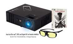 Viewsonic FULL HD 3D Beamer PJD7820HD + Wolverine 3D BluRay + 3D Brille