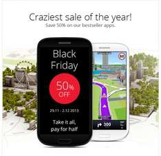 Sygic Black Friday Sale - 50% Sparen