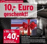 50€ ATU-Geschenkkarte für 40€