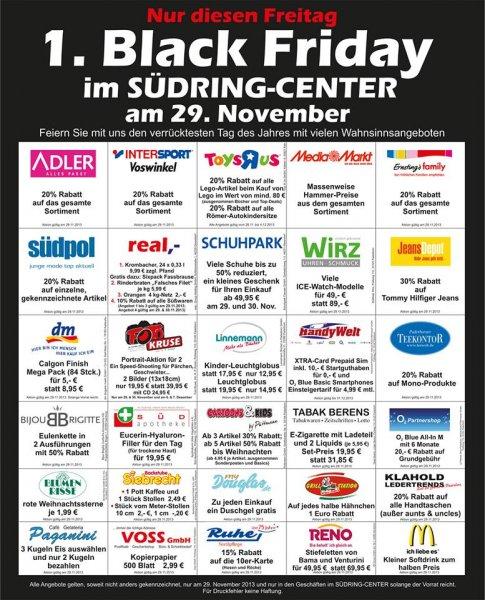 [Lokal Paderborn] Südring Center Paderborn - 1. Black Friday