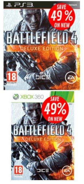 Nur bis heute 14 Uhr: Battlefield 4 Deluxe Edition (PS3/360)  (beide mit dt. Sprache) für 34,73 € inkl. Versand