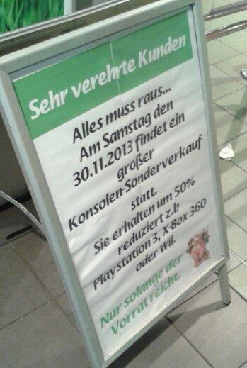 [Lokal Marktkauf Gelsenkirchen] 50% auf Spielekonsolen (z.B. Playstation 3, Xbox 360, Wii) nur am 30.11.13
