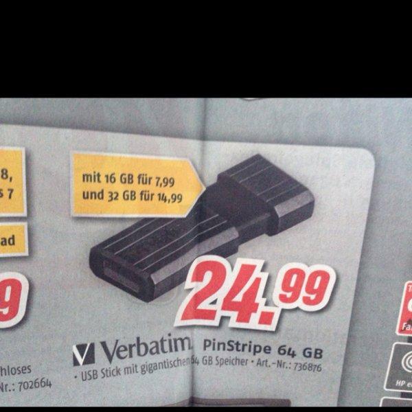 Verbatim PinStripe 64GB USB Stick Lokal in Berlin ?