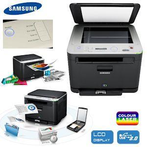 Samsung CLX-3185 Farblaserdrucker 3-in-1-Gerät: Scannen, Drucken und Kopieren @IBOOD