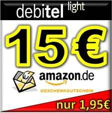 debitel light SIM-Karte + 15,00 EURO AMAZON Gutschein KOSTENLOS für nur 1,95€