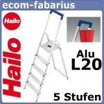 Hailo Stufenstehleiter Alu L20 4 Stufen für 24,95 €