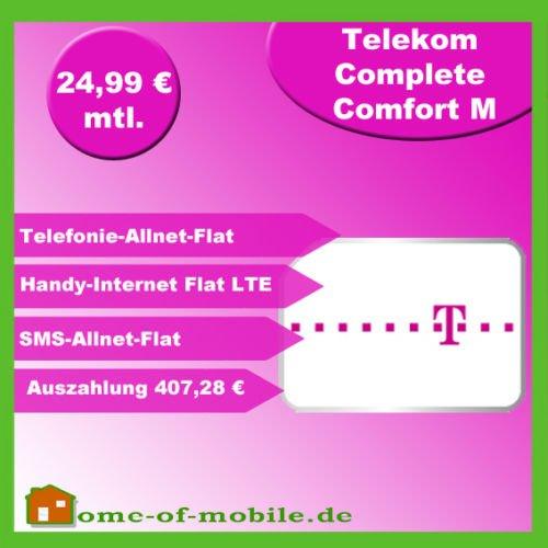MD Telekom Complete Comfort M (750 MB LTE, Allnet-Flat, SMS-Flat) eff. 25,- / Monat