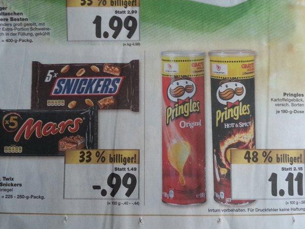 [Kaufland - lokal?] Pringles 1,11€ Snickers / Mars / Twix 0,99€ Aspach Uralt 8,88€ (02.12.13 - 07.12.13)