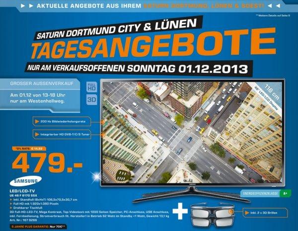Samsung UE46F6170SSX 479€ & weitere TV Angebote Lokal Tagesangebot [Saturn Dortmund,Lünen,Soest]