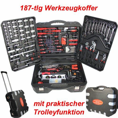 [EBAY WOW] 187-teiliger Werkzeugkoffer im Trolley für nur 57,95 Euro inkl. Versand