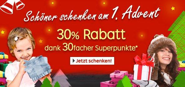 [FÜR ALLE?] 30% in Superpunkten bei rakuten.de