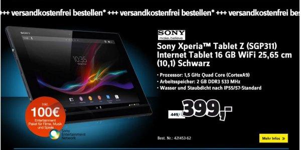 [Conrad] Black Week Angebot: Nur 24h, das Sony Xperia Tablet Z (16GB, WiFi)versandkostenfrei zum Bestpreis, ab JETZT!