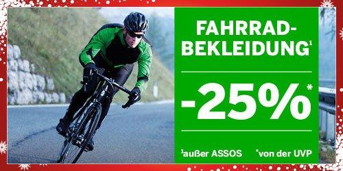 [bike-discount] 25% auf Fahrradbekleidung