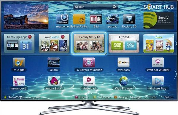 Heute: Samsung UE46F6500 3D LED DVB-T/C/S 400Hz SMART TV bei EBAY (Cyberport)