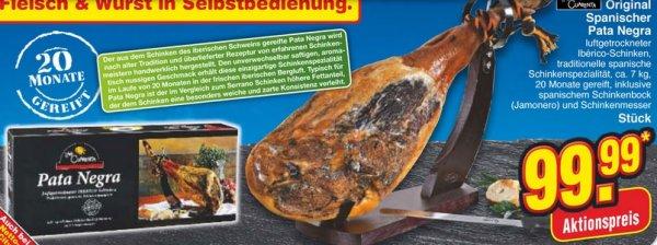 FLEISCHDEAL! 7kg Iberico Pata Negra Schinken + Schinkenbock +  Schinkenmesser