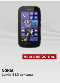 Nokia Lumia 510 schwarz/weiß Media Markt Adventskalender 90€