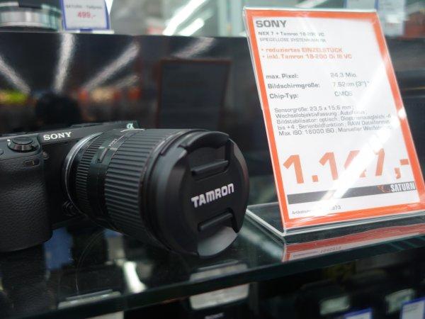 LOKAL SATURN WUPPERTAL Sony Nex 7 + Tamron 18-200 VC