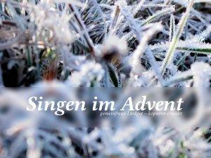 Singen im Advent 3. Auflage