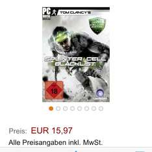 Amazon splinter cell Black List Deluxe Edition