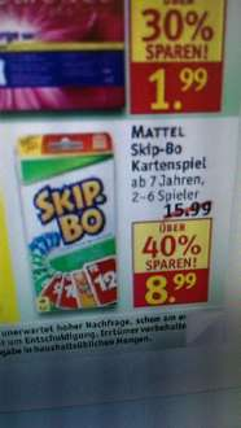 [Offline] Mattel Skip-Bo Kartenspiel 8,99€