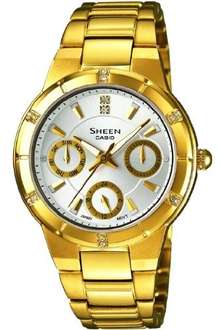 Damen Multifunktions-Uhr Casio Sheen SHE-3800GD-7AEF