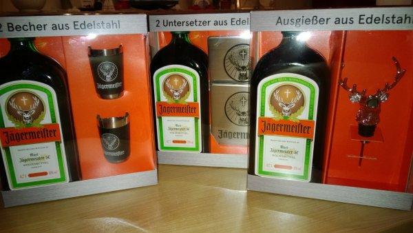 [Lokal]Duisburg Wanheimerort] Trinkgut Jägermeister + je 1/3 verschiedene Accessoires für 10,99€