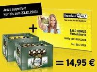 Radio SALÜ BONUS Vorteilskarte inkl. 48 x 0,33l Karlsberg Ur-Pils für 14,95 [Einlösung lokal]