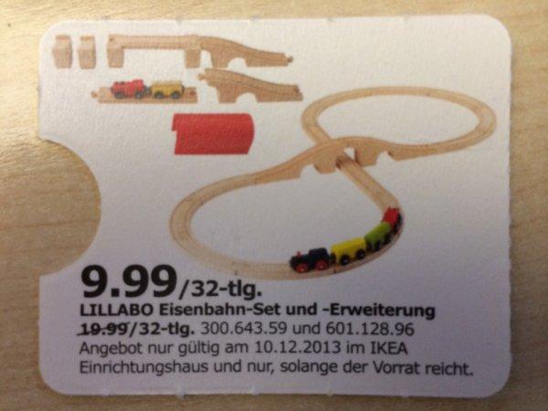 IKEA (am 10.12.13) - LILLABO (Holz)Eisenbahn-Set und -Erweiterung