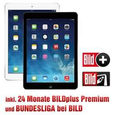 Apple iPad Air 16GB WiFi inkl. 24 Monate BILDplus Premium Bundesliga