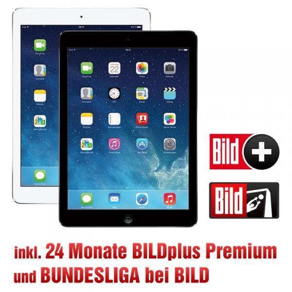 Apple iPad Air 16GB WiFi inkl. 24 Monate BILDplus Premium Bundesliga