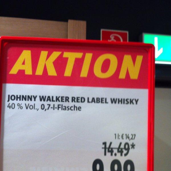 Johnny Walker Red Label Whisky für 9,99 anstatt 14,99 bei Tengelmann Mülheim