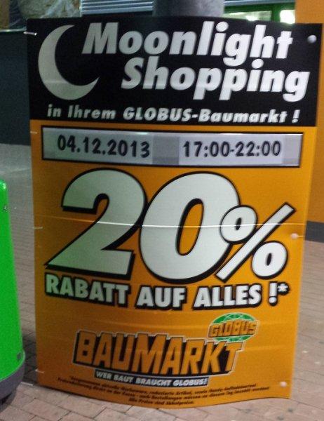 (Local) -20% GLOBUS-Baumarkt Neustadt Weinstrasse