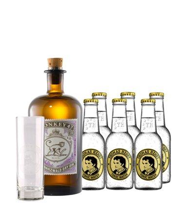 Monkey 47 Gin-Tonic-Set mit gratis Longdrink-Glas versandkostenfrei