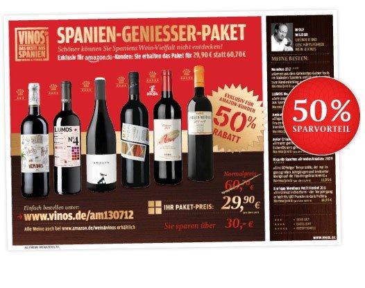 6 Flaschen spanischer Wein für 29,90€ statt 60,70€