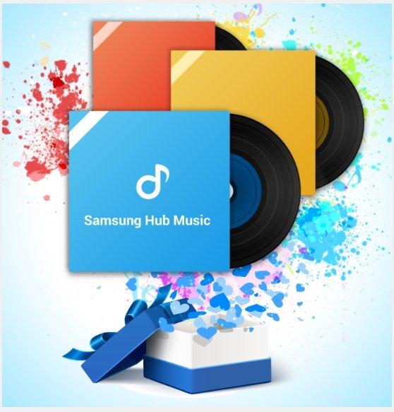 Samsung Music Hub 1 von 5 Alben Gratis