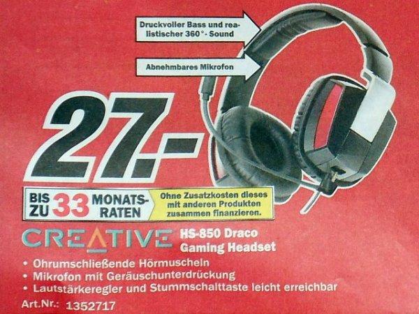 [MediaMarkt] Creative HS-850 Draco Gaming Headset für 27€