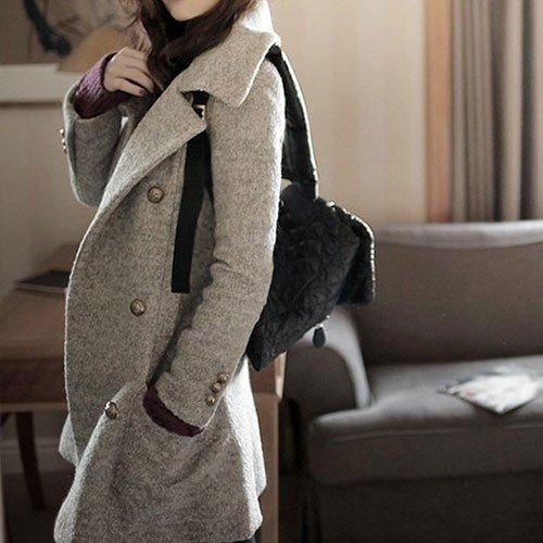 Damen Mantel mit Brusttaschen und Stehkragen für 37,49