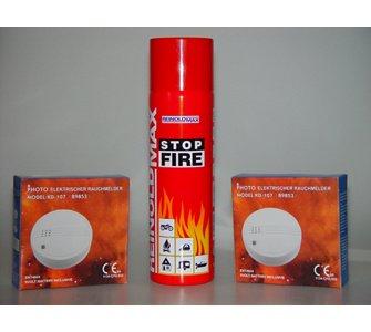 Stop Fire Feuerschutz-Set / 2 Rauchmelder und Löschschaum für 14,95 € (19,95 mit VSK) oder 4 für 59,80 (Ohne VSK)