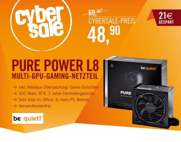 be Quiet! - ATX Netzteil 500 Watt @ Cyperport -Cybersale für 48,90 Euro
