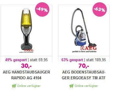 AEG Staubsauger ATF 7660 bei mömax.de für nur 60€ (inkl. Versand)