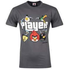 Angry Birds Men's Player T-Shirt Grau XL für 6€ @Zavvi
