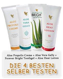 4 Aloe Vera Proben