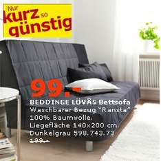 BEDDINGE LÖVÅS Bettsofa statt 199,-€ (IKEA Walldorf)