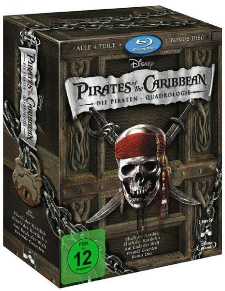 [buch.de] Fluch der Karibik Quadrologie (Blu-ray) für 22,10 €, DVD-Version für 18,70 €